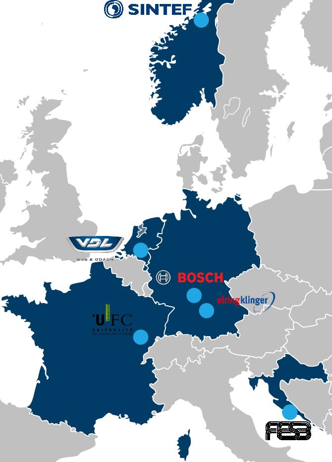Giantleap partners: SINTEF, FESB, UFC, Bosch, ElringKlinger and VDL